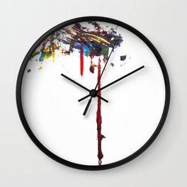 Dos Splatter  Wall Clock