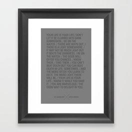 The Laughing Heart by Charles Bukowski Framed Art Print