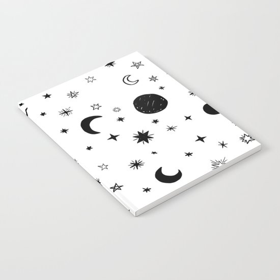 Moons & stars Notebook