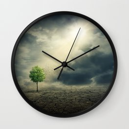 Drought on Earth Wall Clock