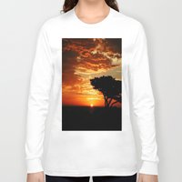 dragon Long Sleeve T-shirts featuring Firey Dragon  by Chris' Landscape Images & Designs