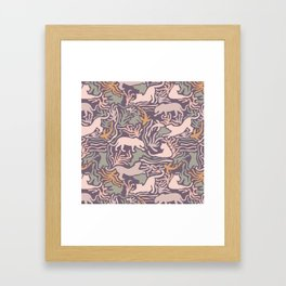 Big Cats and Fishes Framed Art Print