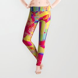 Rainbow rays soccer ball Leggings