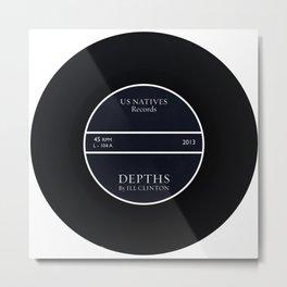 Depths Vinyl/CD Design Metal Print