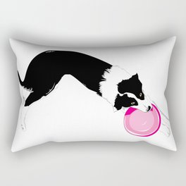 Disc Dog - Border Collie Rectangular Pillow