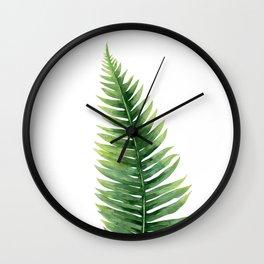 Fern. Wall Clock