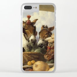 Edwin Landseer- A Group Of Animals, Geneva Clear iPhone Case