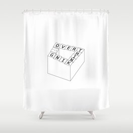 overthinking - black&white Shower Curtain