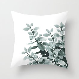 Eucalyptus Leaves Green Vibes #1 #foliage #decor #art #society6 Throw Pillow