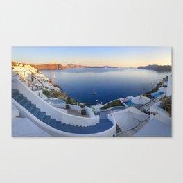 Stairways in Oia Santorini Canvas Print