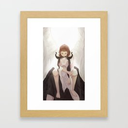 angels and demons Framed Art Print