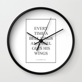Its A Wonderful Life Every Time A 409 Watercolor M Wall Clock