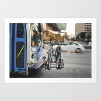 Bus in Motion Art Print
