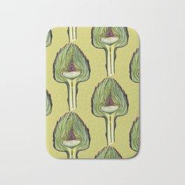 Botanical pattern from the new fall crop of artichokes Bath Mat
