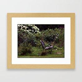Garden Bench Framed Art Print