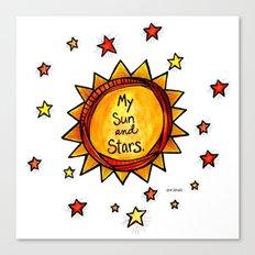 My Sun and Stars - Khal and Khaleesi Canvas Print