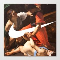 nike Canvas Prints featuring Fight Nike by CHESSOrdinary