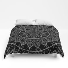 Black and White Lace Mandala Comforters