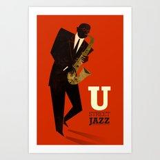 U Street Jazz (Saxophone) Art Print