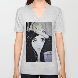 Melinda. Illustrated from the book Tempting Tempo by Author Michelle Mankin. Unisex V-Neck