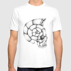 sea skull MEDIUM Mens Fitted Tee White