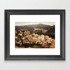 Les Baux de Provence Framed Art Print