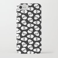 skulls iPhone & iPod Cases featuring skulls by Ace of Spades