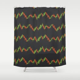 Stock market graph Shower Curtain