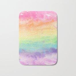 Watercolor Rainbow Wash Bath Mat