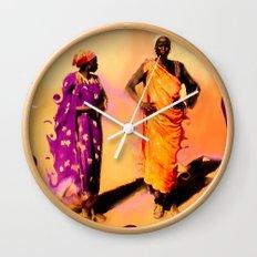 Land Of The Sahara Wall Clock