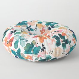ISLAND TIME Tropical Floral Floor Pillow