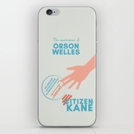 Citizen Kane, minimal movie poster, Orson Welles film, hollywood masterpiece, classic cinema iPhone Skin