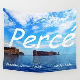 Perce Gaspésie mask edition A Wall Tapestry