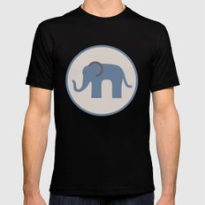 Baby Blue Chevron Elephant  MEDIUM Mens Fitted Tee Black
