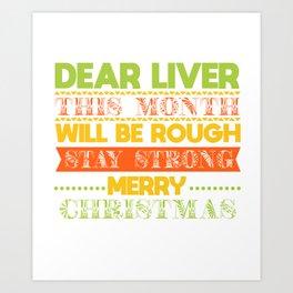 christmas booze beer liver funny gift Art Print