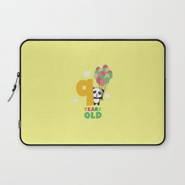 Nine Years 9th Birthday Party Panda T-Shirt Dwofi Laptop Sleeve