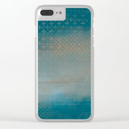ABUR with Gold on Turquoise Clear iPhone Case
