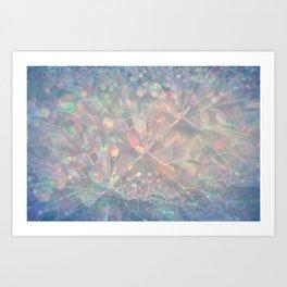 Sparkling Crystal Maze Abstract Art Print