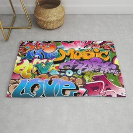 Graffiti Music Love Rug