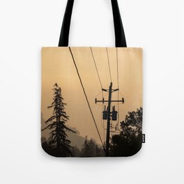 Yellow Mountain Haze Tote Bag
