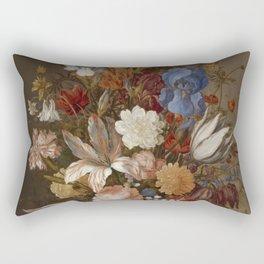 Balthasar Van Der Ast - Still Life With Flowers Rectangular Pillow