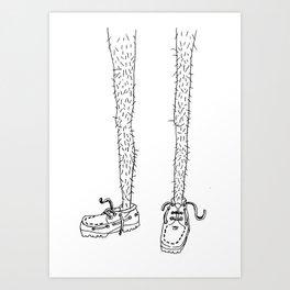 hairy legs Art Print