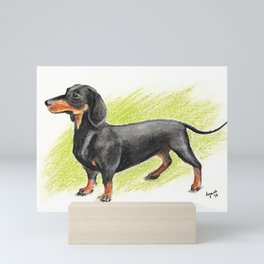 Dachshund (includes rescue donation!) Mini Art Print