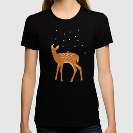 Baby Deer and Snow T-shirt