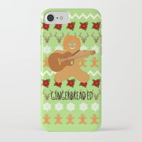 ed sheeran iPhone & iPod Cases featuring Gingerbread Ed II by Laura Maria Designs