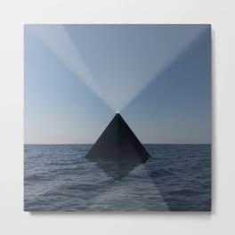 Black Pyramid Metal Print