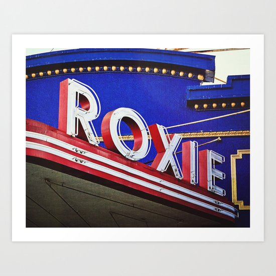 Vintage Theater Sign, San Francisco Art Print