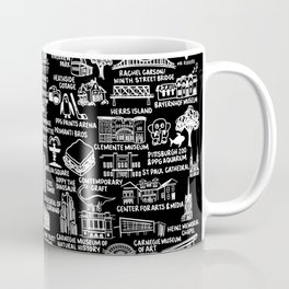 Pittsburgh Map  Coffee Mug
