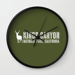 Deer: Kings Canyon, California Wall Clock