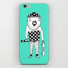 Skater with wine. iPhone & iPod Skin